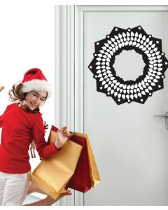 Leafy Christmas Wreath Wall Sticker Packs