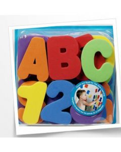 Bath Time Letters and Numbers 36 Pack