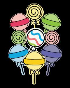 Lollipop Kids Name Labels (Pastel)