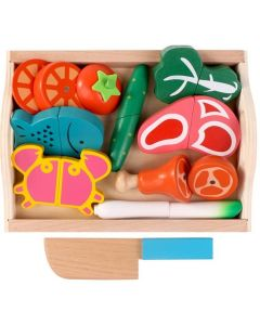 Wooden Meat Chopping Play Set