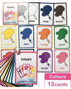 Montessori Flash Cards Funny Lands QR Code Iteractive Colours