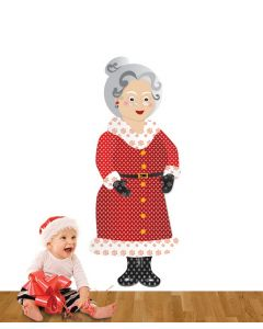 Mrs Christmas Pattern Giant Stickers Pack
