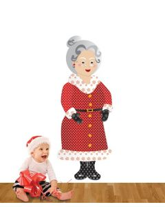 Mrs Claus Pattern Multi Coloured Giant Character Pack