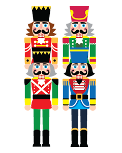 Nutcracker Soldiers Clothing Labels