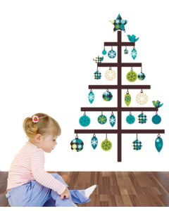 Ornamental Christmas Tree Wall Sticker Pack