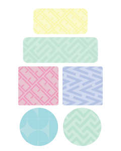 Patterns Kids Name Labels (Pastel)