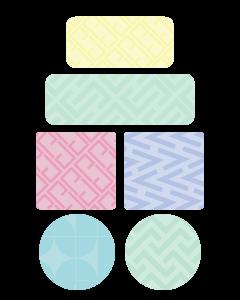 Patterns Kids Clothing Labels (Pastel)