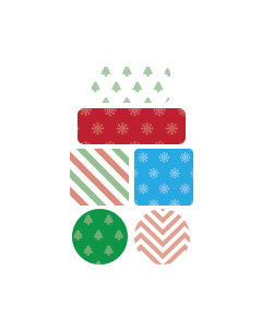 Prints and Patterns Christmas to Remember Name Labels