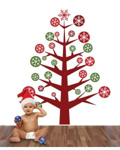 Pine Christmas Tree Wall Sticker Pack