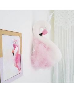 3D Wall Mounted Pink Swan Head