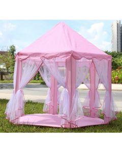 Kids Pink Princess Castle Tent