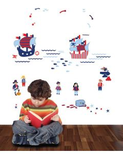 Pirates Little Adventure Multi Coloured Wall Stickers Pack