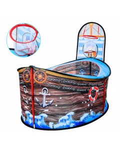Kids Pirate Ship and Shooting Play Tent
