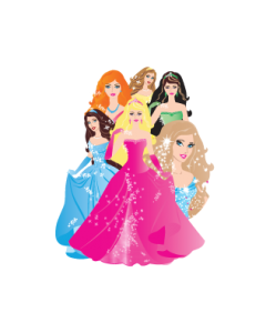 Princesses Name Labels