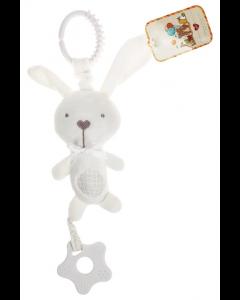 Cuddley Musical Teething Plush Toy Rabbit