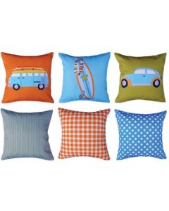 Retro Adventures (pack of 3) Cushions Pack