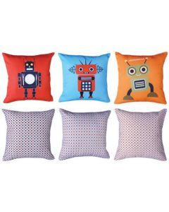 Robots (pack of 3) Cushions Pack