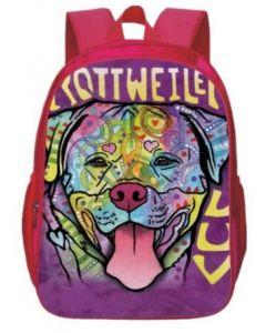 Rottweiler Large Back Pack Pink