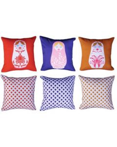 Russian Dolls (pack of 3) Cushions Pack
