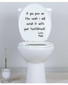 Scrub Fun toilet seat sticker by LOLoo