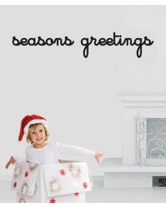 Seasons Greetings Script Black Wall Quote Pack