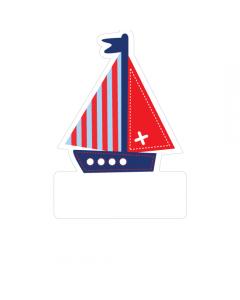 Shape Clothing Labels - Boat