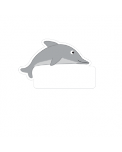 Shape Clothing Labels - Dolphin