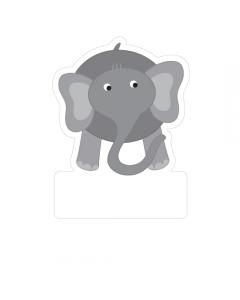 Shape Name Labels - Elephant