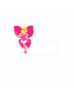Shape Clothing Labels - Pink Fairy