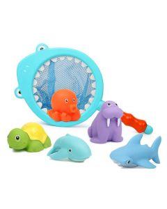 Water Bath Toy Fishing Net Shark Light Blue