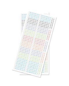 180 Skinnies Clothing Labels for Boys (up to 24 letters)