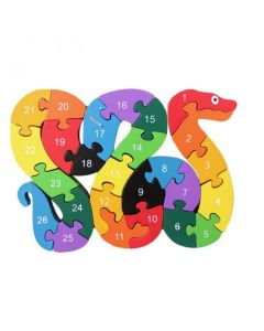 Kids Wooden Snake Toy 3D Puzzle Brinquedo Jigsaw Puzzle