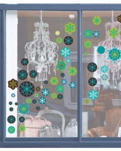 Snowflakes Transparent Wall Sticker Packs