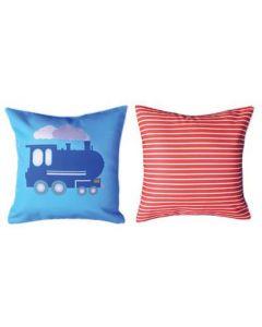 Themed Cushion - Steam Train & Carriages - Engine