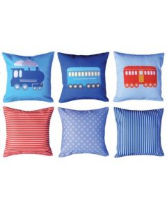 Steam Train and Carriages (pack of 3) Cushions Pack
