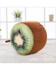 Inflatable Kids Plush Cushion Stool Kiwi Fruit