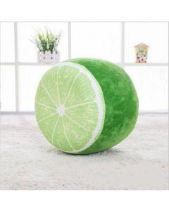 Inflatable Kids Plush Cushion Stool Lime