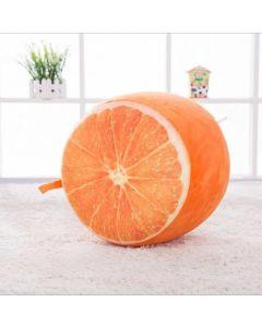 Inflatable Kids Plush Cushion Stool Orange