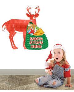 Stop Here Reindeer Pattern Multi Giant Character Pack
