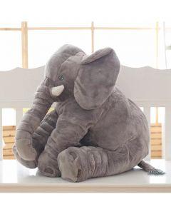 Kids Plush Giant Elephant Cushion Grey