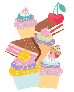 Sweet Treats Designed Ready To Go Clothing Labels