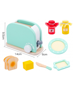 Wooden Toaster Breakfast Set