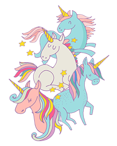 Unicorn Magic Pastel Name Labels