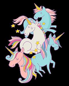 Unicorn Magic Pastel Designed Ready To Go Clothing Labels