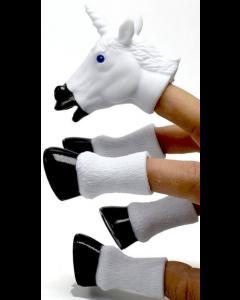 Five Piece Unicorn Finger Puppets