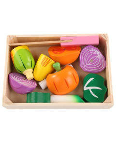 Wooden Vegetable Chopping Play Set