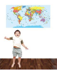 World Map Multi Wall Sticker Pack