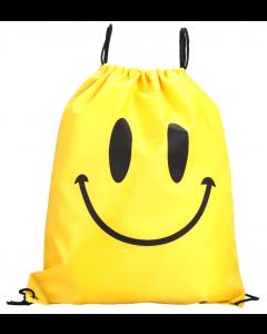 Yellow Smiley Waterproof Swim and Backpack Sport Bag