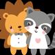 Lion and Lemur
