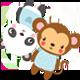 Monkey & Panda